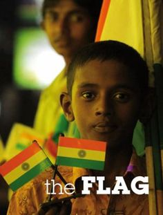 Color photographs show Indians celebrating their flag in a variety of ways.