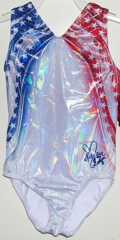 GK Elite Sportswear Discount Leotards Nastia Liukin Gymnastics Leotard E3086 American Beauty Nastia Liukin Leotard