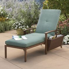 Canopy Garden Glen Chaise Lounge, Antique Oak - $159-- Great to lounge in while listening to my AudioRock!