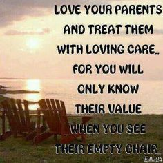 Life sometimes gets so busy that we forget what really matters.   I know that we need to make more time for our parents.