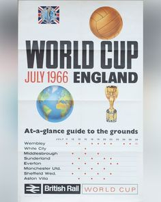 1966 World Cup, Laws Of The Game, Association Football, Most Popular Sports, British Rail, England Football, Middlesbrough, White City, Aston Villa