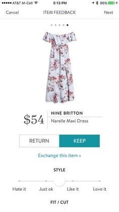 Stitch Fix NINE BRITTON Narelle Maxi Dress