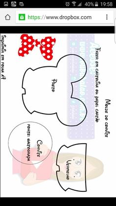 Cumple Mickey Mouse | Molde Invitaciones Mickey & Minnie Mouse