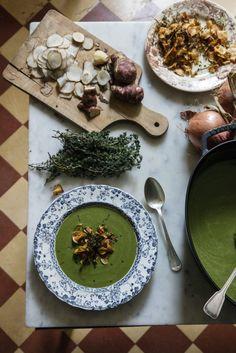 Delicious Green Soup :  Manger