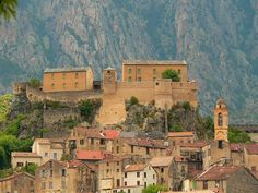 Vue de la citadelle de Corte (Haute-Corse)