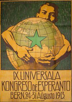 Esperanto poster from 1913