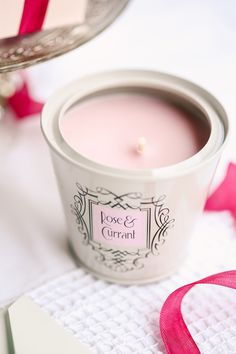Rose + Currant candle | Photography: Tory Williams Photography - torywilliams.com  View entire slideshow: 15 Gift Ideas For Your Bridesmaids on http://www.stylemepretty.com/collection/311/