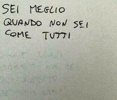 Diversificata - Citazioni Murali - New Ideas Words Quotes, Love Quotes, Sayings, Street Quotes, Italian Quotes, Healing Words, Tumblr Quotes, Sentences, Quotations