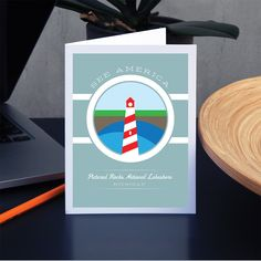 Pictured Rocks National Lakeshore Greeting Card by Brandon Kish National Park Posters, Us National Parks, Picture Rocks, See Picture, Pictured Rocks National Lakeshore, Graphic Design Resume, Chicago Cubs Logo, Travel Posters, Greeting Cards