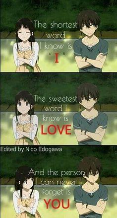 Anime: Hyouka - Shounen And Trend Manga Cute Love Quotes, Love Sayings, Sad Anime Quotes, Manga Quotes, Funny Quotes, Anime Quotes About Love, Funny Memes, Hyouka, Anime Life