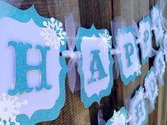 Frozen birthday banner by CelebrationBanner on Etsy, $38.00