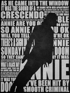 Michael Jackson Smooth Criminal-His BEST song.no it doesn't come any better than THIS! Michael Jackson Poster, Michael Jackson Lyrics, Michael Jackson Kunst, Michael Jackson Lean, Michael Jackson Smooth Criminal, Jackson Family, Jackson 5, I Love Music, Good Music