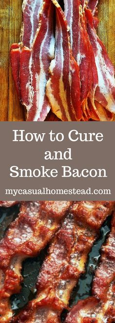 to make your own bacon! Learn how to cure and smoke your own bacon. Easy and simple step by step instructions.Learn how to cure and smoke your own bacon. Easy and simple step by step instructions. Sausage Recipes, Pork Recipes, Real Food Recipes, Oven Recipes, Meat Appetizers, Appetizer Recipes, Dinner Recipes, Curing Bacon, Barbecue