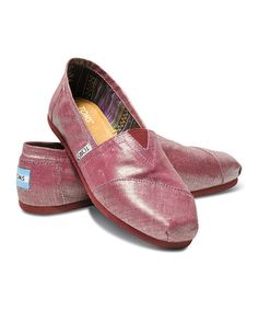 Another great find on #zulily! Raspberry Metallic Linen Classics by TOMS #zulilyfinds
