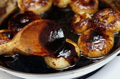 Balsamic Glazed Sweet and Sour Cipolinni (Smitten Kitchen, Adapted from Mario Batali). Can use small onions instead of cipollini.
