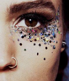 Argent holographique avec des étoiles paillettes Festival