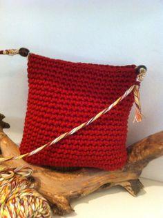 https://www.facebook.com/GorrosBoinasCrochet Bolso-bandolera crochet con cuerda de algodon