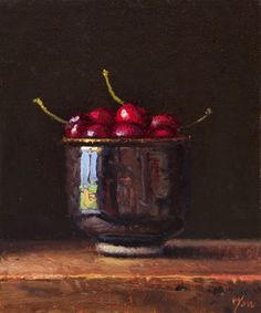 """Daily Paintworks - """"Bowl of Cherries (+ Sedona pa..."""" by Abbey Ryan"""