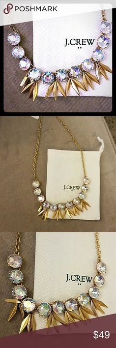 J. Crew Iridescent Circles and Points Brand new with tags and white dust bag J. Crew Jewelry Necklaces