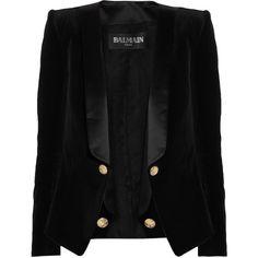 #balmain #velvet #blazer #jacket #coat #trim
