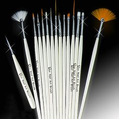 JOADRI 15 Nail Art Design Pen Polish Brush Set -- You can find out more details at the link of the image.