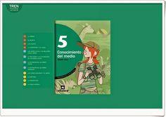 """Libro Digital de Editorial """"La Galera"""", proyecto """"Tren"""", de 5º de Educación Primaria, área de Conocimiento del Medio de Andalucía."""