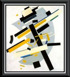 Supremus No. 58-Yellow and Black (1916) Kasimir Malevich 1878-1935