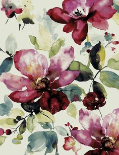 Iphone Wallpaper Modern, Flower Phone Wallpaper, Cute Wallpaper Backgrounds, Cute Wallpapers, Art Floral, Motif Floral, Floral Prints, Abstract Watercolor, Watercolor Flowers