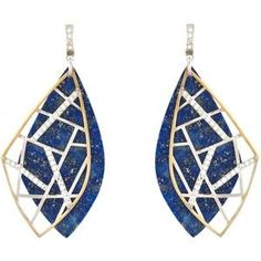 @kararossny sliced lapis, sapphire and diamond earrings #JAmember #pickoftheday