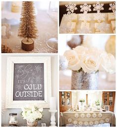 Baby It's Cold Outside Themed Winter Wonderland Twin Birthday Party with Lots of Really Cute Ideas via Kara's Party Ideas   KarasPartyIdeas....
