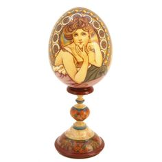 Russian painted egg - Mucha