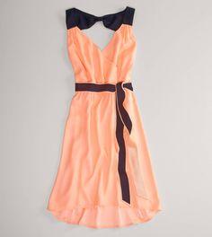 AE Neon Bow Back Dress