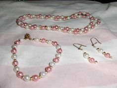 """""""Rose Mini Pearls"""" 3 piece set --- $5.00 + $3.00 shipping in the USA"""