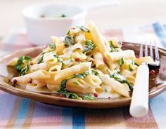 Penne mit Gorgonzola-Spinat-Soße Rezept - ausprobiert: schnell und gut.