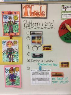 First grade pattern land figure drawing