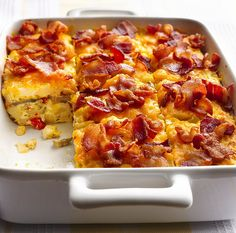 Bacon and Hashbrown Egg Bake