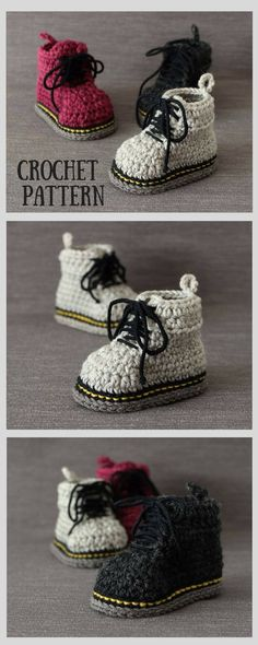 Amazing baby Martens style booties crochet pattern with easy to follow, clear instructions, plenty of pictures. How cute these will look on my little boy! #ad #affiliate #crochet #baby #booties #martens #drmartens #crafts #handmade #DIY #etsy #shopsmall #smallbusiness #babyshower #babygift