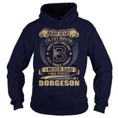 Awesome Tee BORGESON Last Name, Surname Tshirt T-Shirts