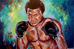 """The Fighter (Muhammad Ali)"" 24x36"" acrylic on canvas"