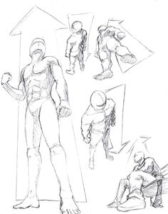 How to Draw the Human Body - Study: Perspective Drawing Reference for Comic / Manga Character