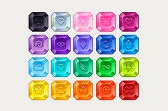Check out Jewel Game Pieces Set by Vectricity Designs on Creative Market Game Gui, Game Icon, Miraculous, Match 3 Games, Game Ui Design, Game Interface, Game Assets, Game Pieces, Simple Jewelry