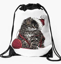 Drawstring Bag Drawstring Backpack, Tee Shirts, Backpacks, Cats, How To Wear, Stuff To Buy, Women, Fashion, Moda