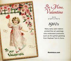 Vintage valentines through the decades: 1910s