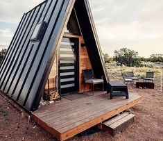 Tiny Cabins, Tiny House Cabin, Shed Homes, Cabin Homes, Tiny Homes, Cabin Design, Tiny House Design, A Frame Cabin Plans, Triangle House