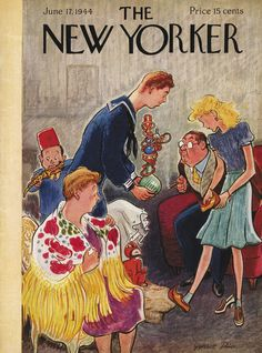 The New Yorker - Saturday, June 17, 1944 - Issue # 1009 - Vol. 20 - N° 18 - Cover by : Garrett Price