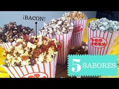 Palomitas de Sabores: 5 maneras dulces y saladas - La Cooquette - YouTube