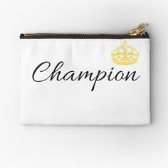 'Vintage Champion Design With Graphic Crown' Zipper Pouch by Kings Crown, Vintage Champion, Gifts For Family, Zipper Pouch, Makeup Yourself, Are You The One, Coin Purse, Printed, Awesome