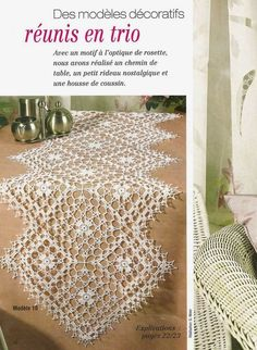 World crochet: Tablecloth 4 - Tuh Old Thread Crochet, Filet Crochet, Irish Crochet, Crochet Motif, Crochet Stitches, Crochet Table Topper, Crochet Table Runner Pattern, Crochet Circles, Crochet Squares