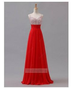 Red Long Prom Dress Sweetheart One Shoulder with Sequin and Pleating on Etsy, £74.92