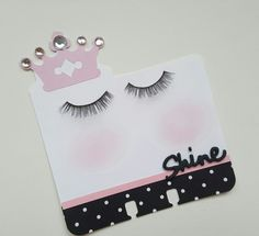 False eyelashes on by Lolly Homemade Envelopes, Atc Cards, Heidi Swapp, Candy Cards, Happy Mail, Artist Trading Cards, Book Making, False Eyelashes, Scrapbook Pages